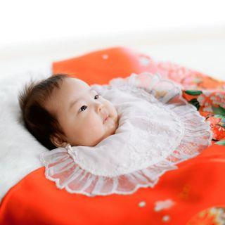 お宮参り、百日など赤ちゃんの撮影