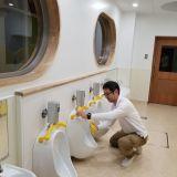 保育園の改修工事に伴うクリーニングをいたしました。写真はトイレの清掃です。