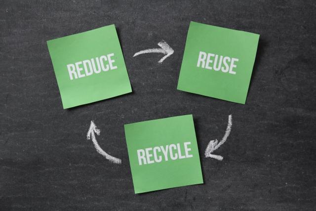リユースとリデュースとリサイクル画像