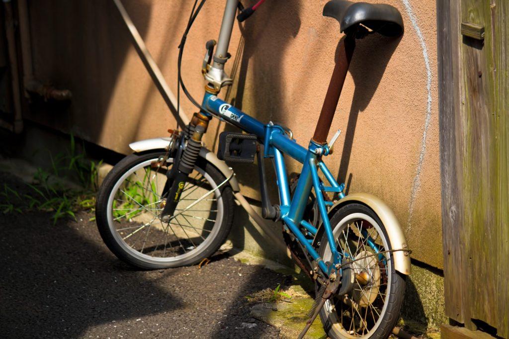処分する自転車の画像