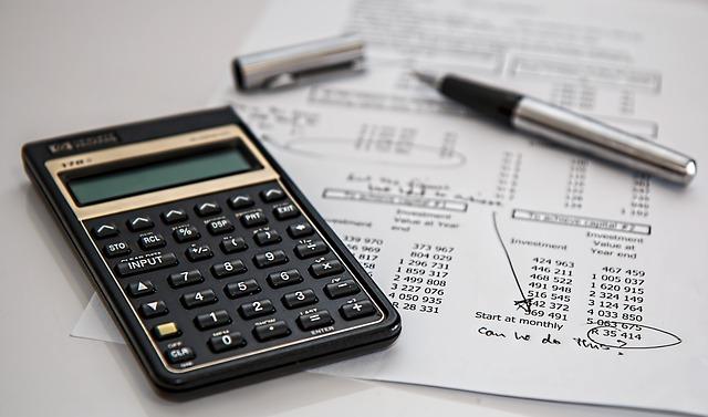 計算機と税金計算書類
