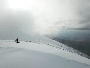 雪山ドローン
