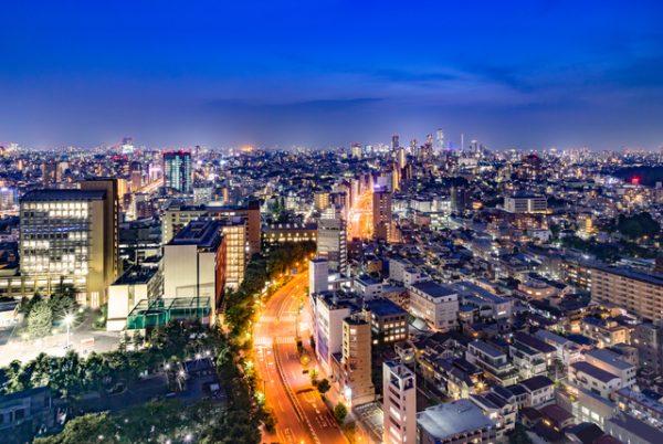 東京 夜景 屋上