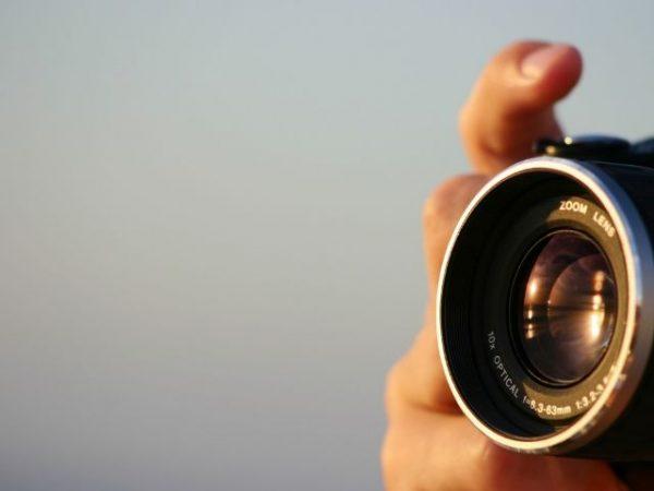 ペットを撮影するプロカメラマン