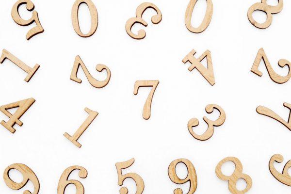 屋号の画数を表現している数字
