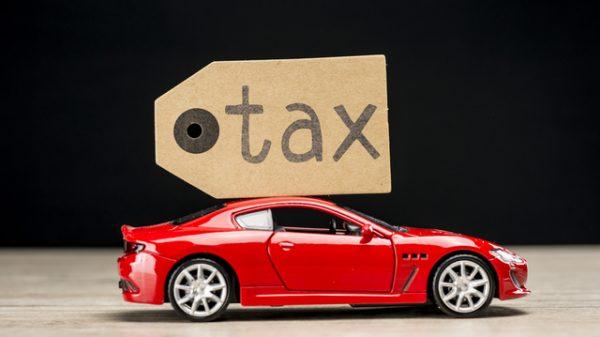 自動車と税金を表す画像