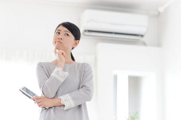 エアコン冷えない画像